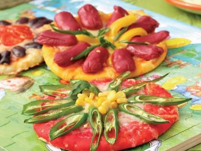 Renkli pizzalar