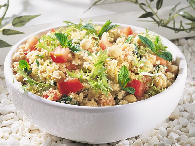 Nohutlu bulgur salatası tarifi